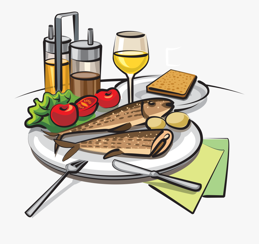 Fried Fish Fish And Chips Barbecue Drawing - Cooked Fish Illustration, Transparent Clipart