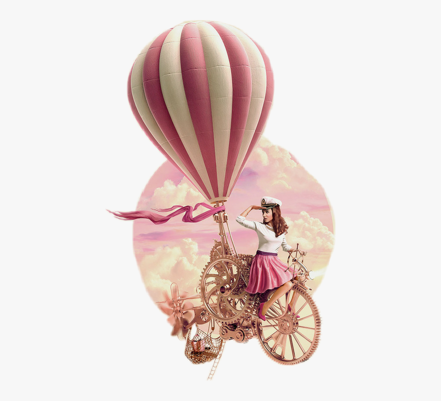 Freetoedit Scairballoon Airballoon - Hot Air Balloon Pink Png Its A Girl, Transparent Clipart