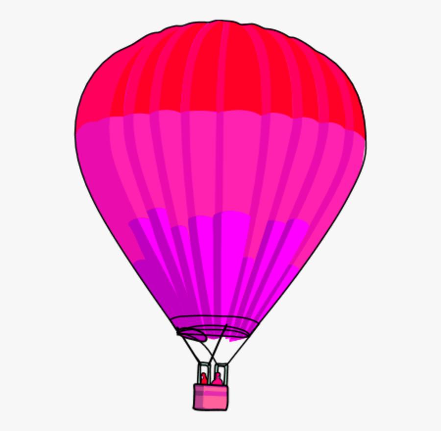 Transparent Hot Air Balloons Clipart - Hot Air Balloon Clip Art Purple, Transparent Clipart