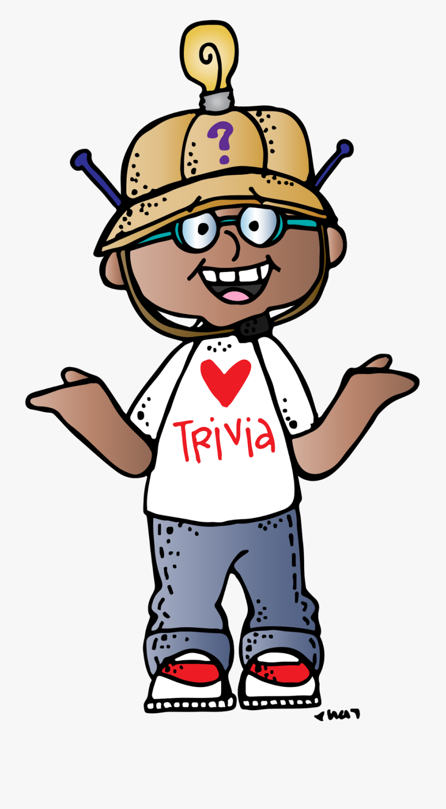 Clipart Man Thinking Of Sand And Sun - Melonheadz Trivia, Transparent Clipart
