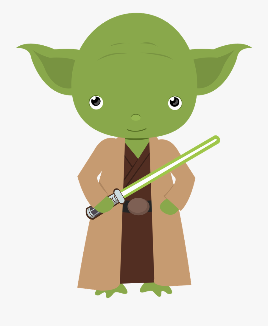 Clip Art Transparent Baby Yoda Clipart - Star Wars Fathers Day Card, Transparent Clipart
