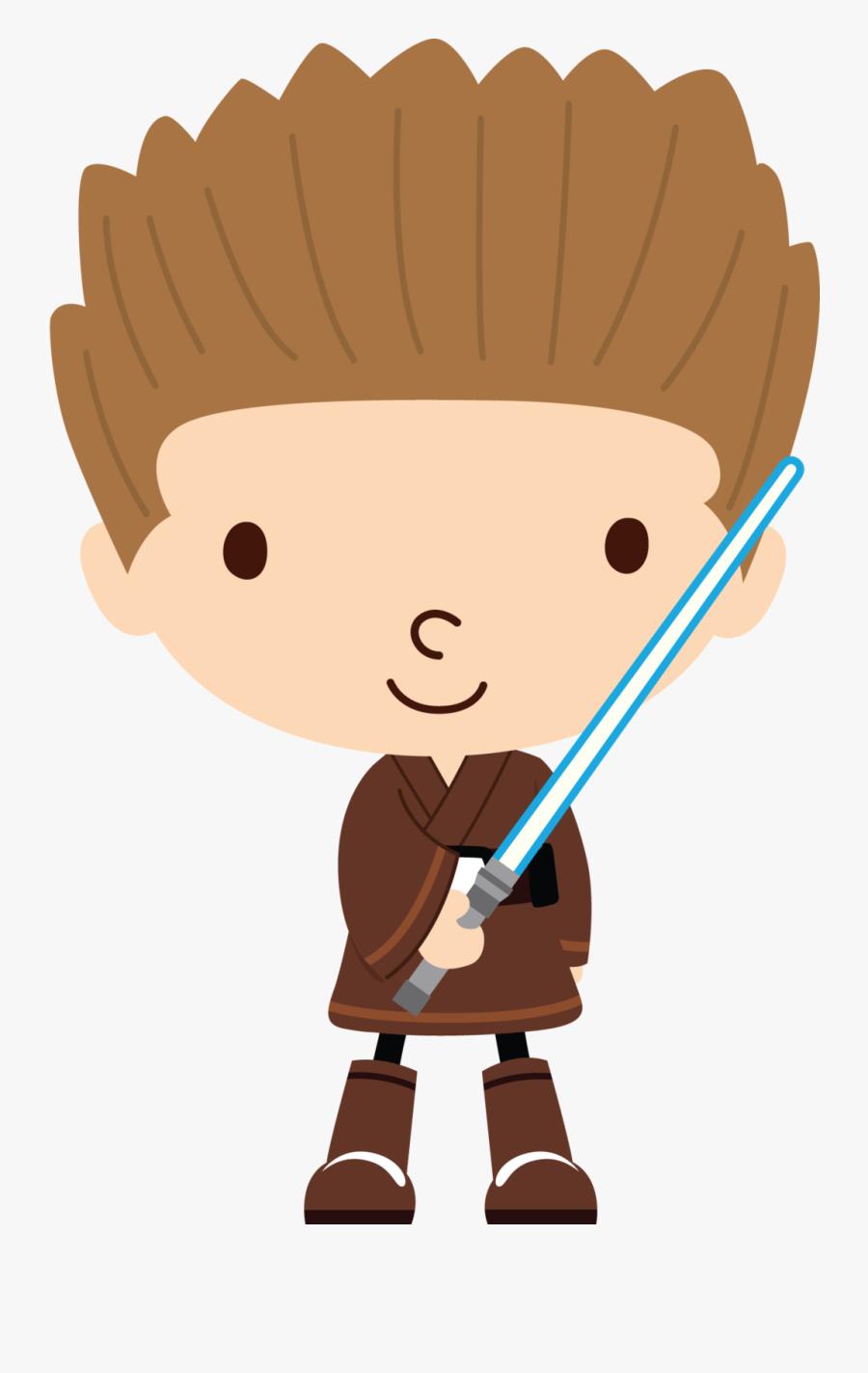 Star Wars Anakin Clipart - Star Wars Clipart Cute, Transparent Clipart
