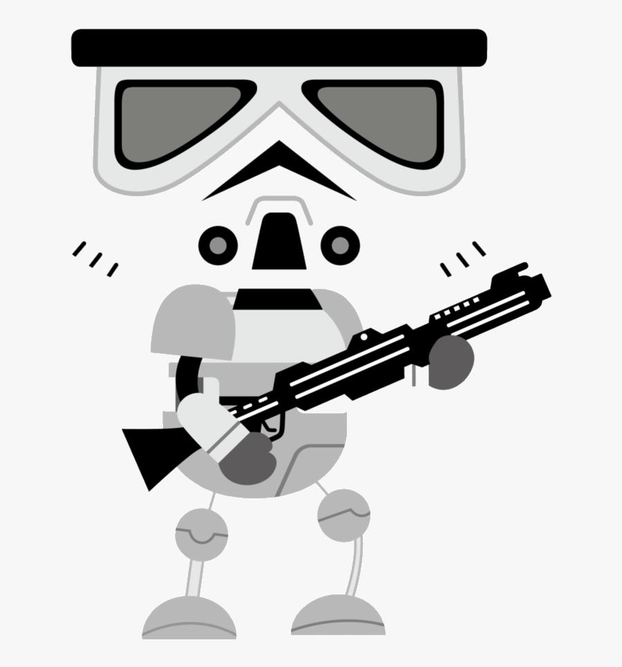 Stormtrooper Storm Trooper Star Wars Clipart Transparent - Storm Trooper Cartoon Png, Transparent Clipart