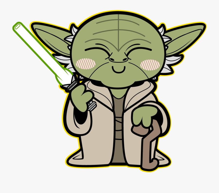 Kawaii Star Wars Cool And Cute Star Wars, Star Wars - Personajes De Star Wars Caricatura, Transparent Clipart