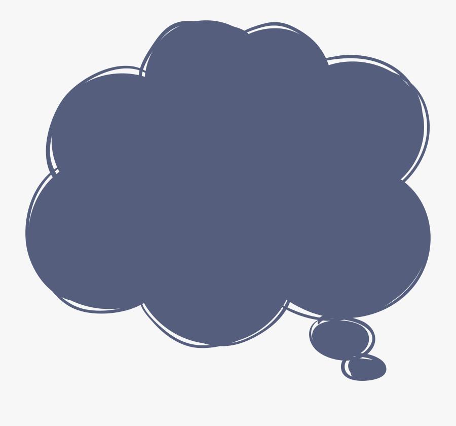 Transparent Think Clipart - Vector Thinking Cloud, Transparent Clipart