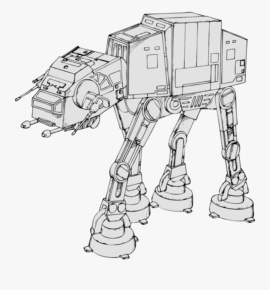 Star Wars Walker Coloring Page, Transparent Clipart