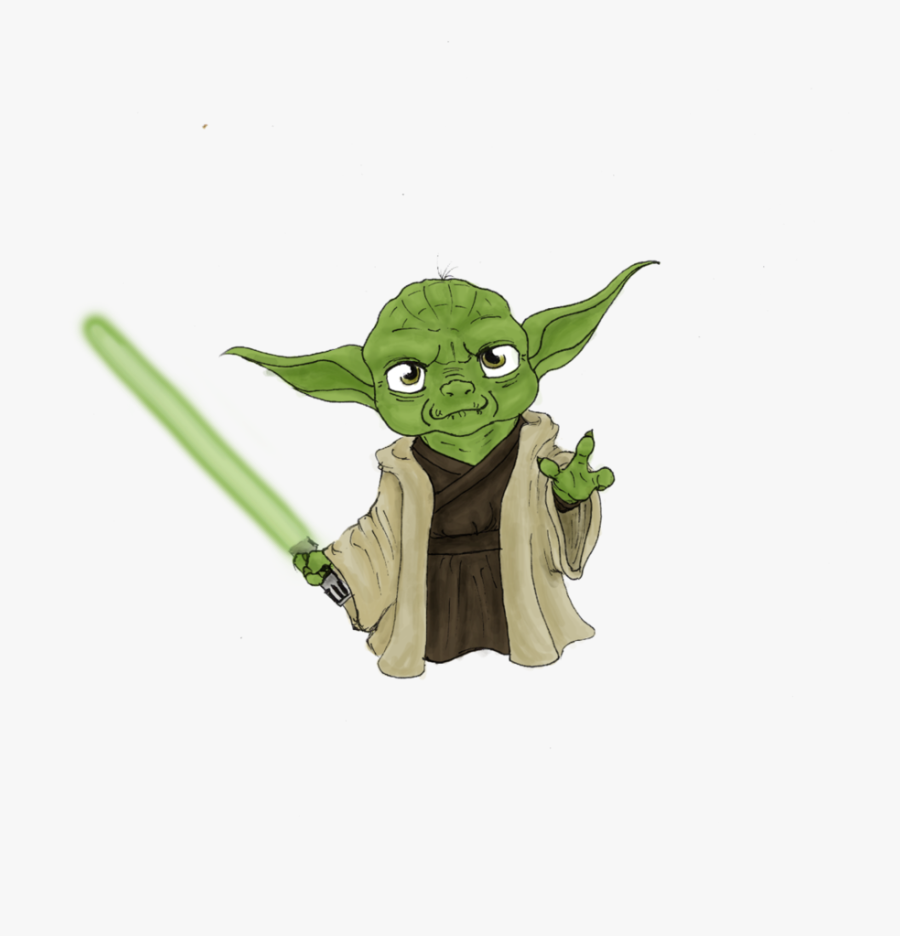 Similiar Star Wars Yoda Cute Keywords Clip Art - Chibi Yoda, Transparent Clipart