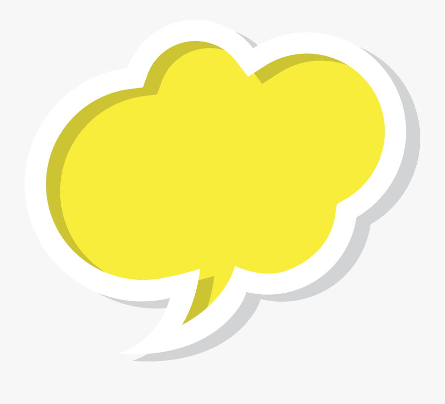 Bubble Clipart Yellow - Yellow Speech Bubble Png, Transparent Clipart