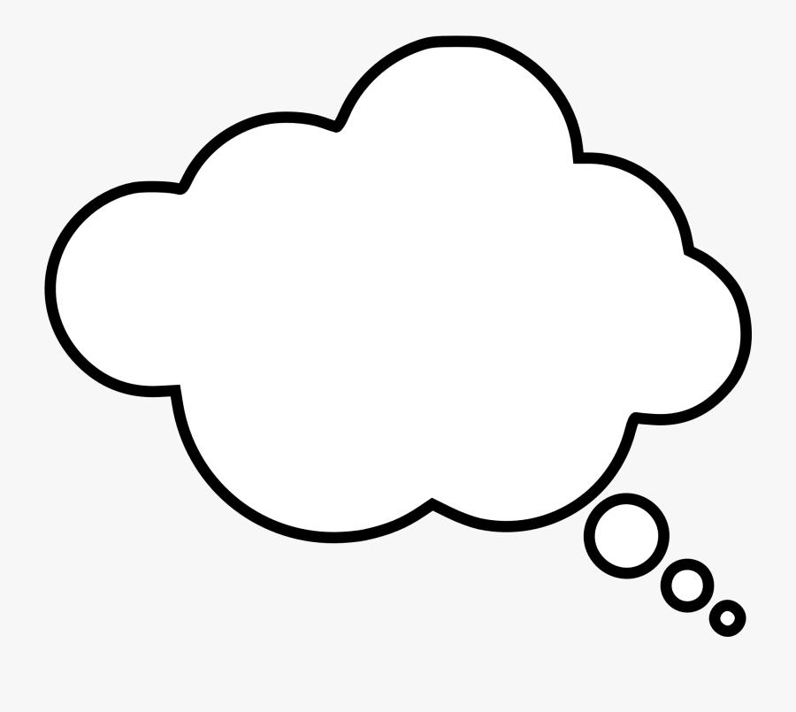 Cloud Thought Bubble - Transparent Background Thought Bubble Png, Transparent Clipart