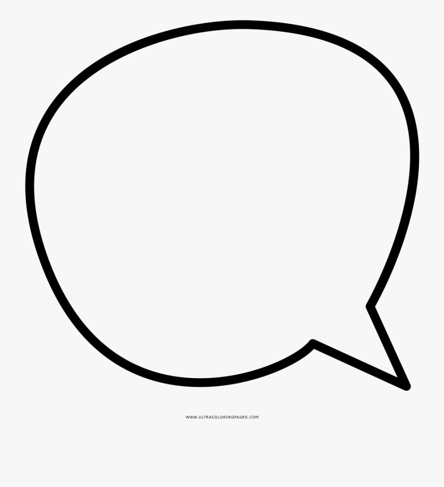 Speech Bubble Coloring Page Clipart , Png Download - Burbuja Diálogo Png, Transparent Clipart