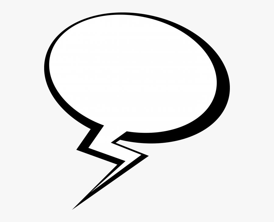 Thought Bubble Clipart Comic - Comic Transparent Background Comic Speech Bubble Transparent, Transparent Clipart