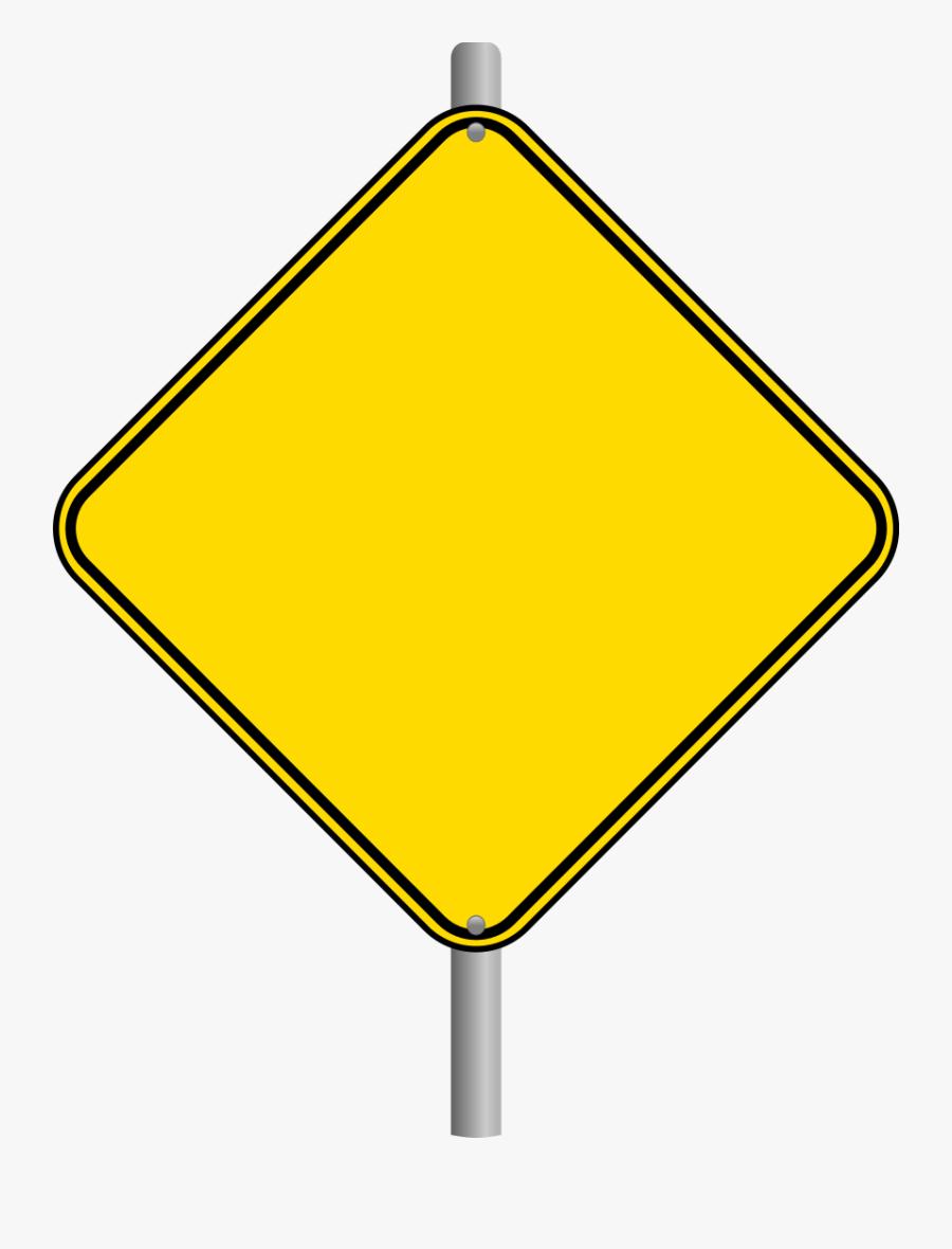 Blank Newspaper Panda Free - Warning Blank Road Signs, Transparent Clipart