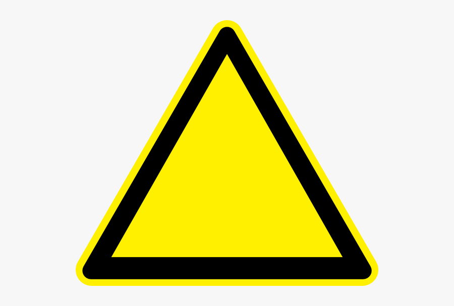 Triangle Clip Art - Yellow Triangle Road Sign Png, Transparent Clipart