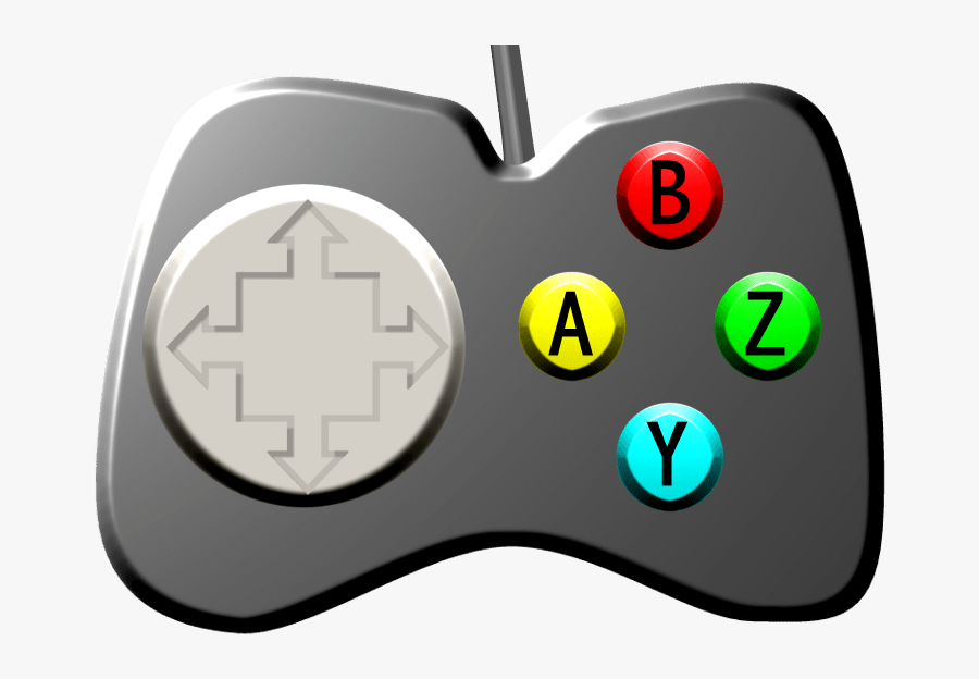 Transparent Video Game Controller Clip Art - Make A Video Games, Transparent Clipart