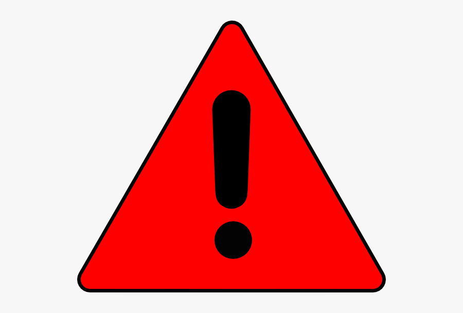 Warning Triangle Clip Art At Clker - Red Caution Sign Transparent, Transparent Clipart