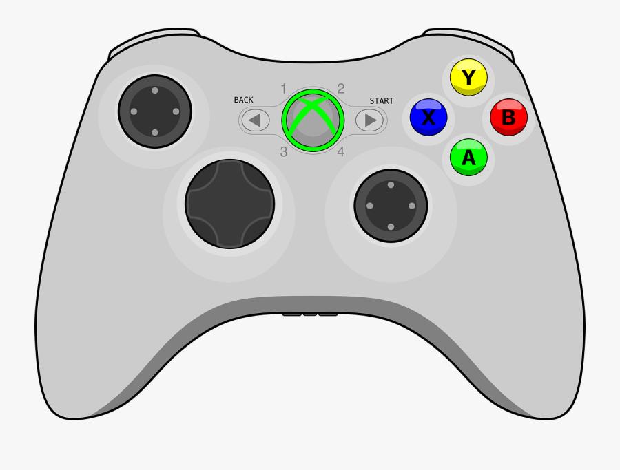 Clip Art Controle Videogame Png - Xbox 360 Controller Line Art, Transparent Clipart