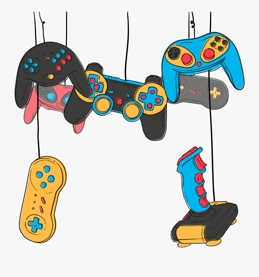 Video Game Game Controller Joystick Online Game - Video Game Controller Art Free, Transparent Clipart