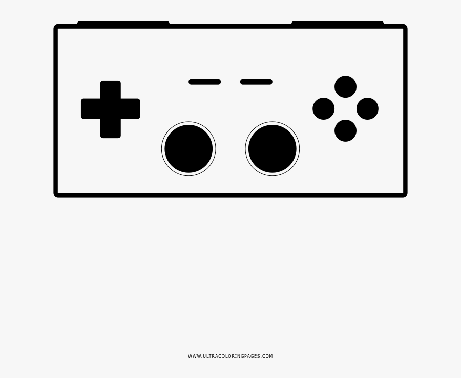 Video Game Controller Coloring Page Clipart , Png Download - Controller Logo, Transparent Clipart