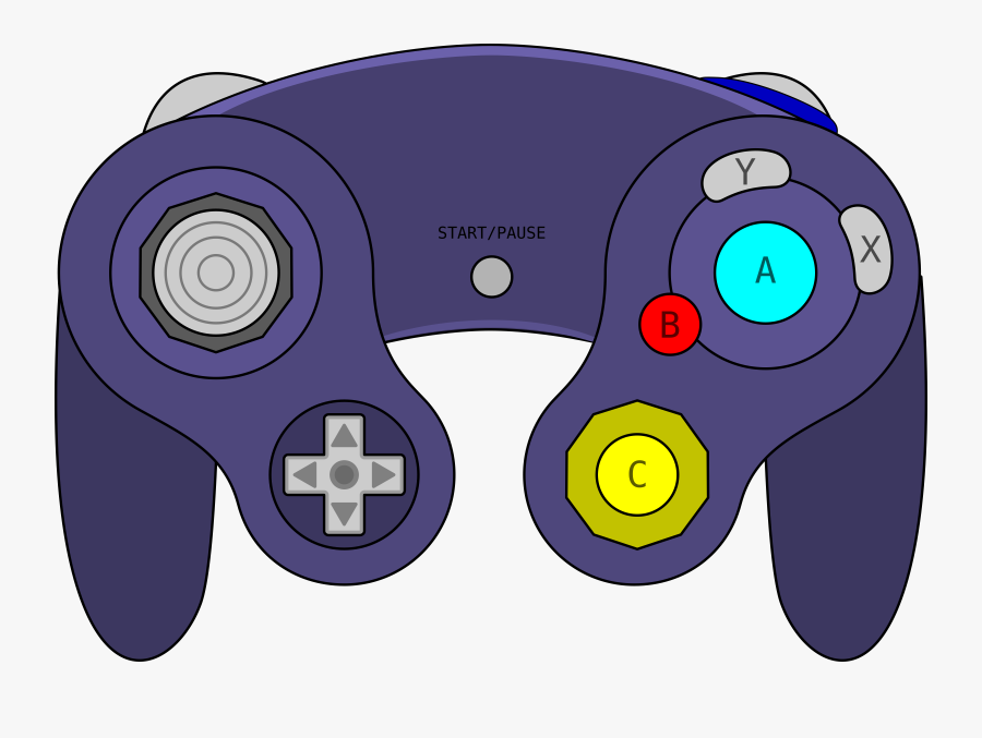All Xbox Accessory,video Game Accessory,home Game Console - Gamecube Controller Clipart, Transparent Clipart