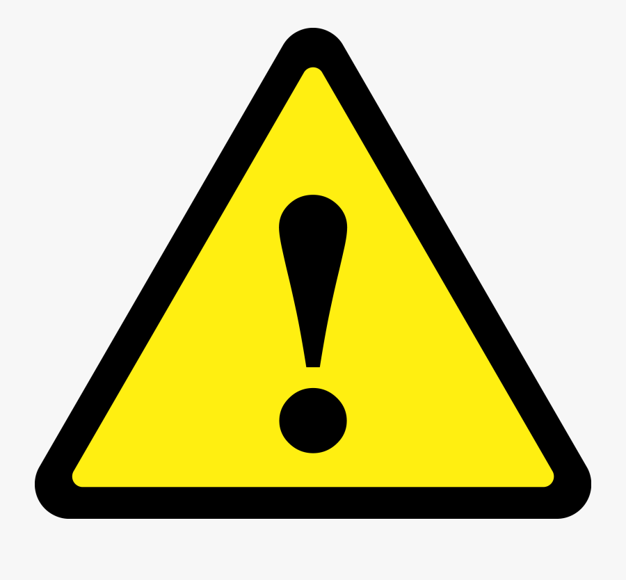 Triangle Warning Sign - Caution Sign Triangle, Transparent Clipart
