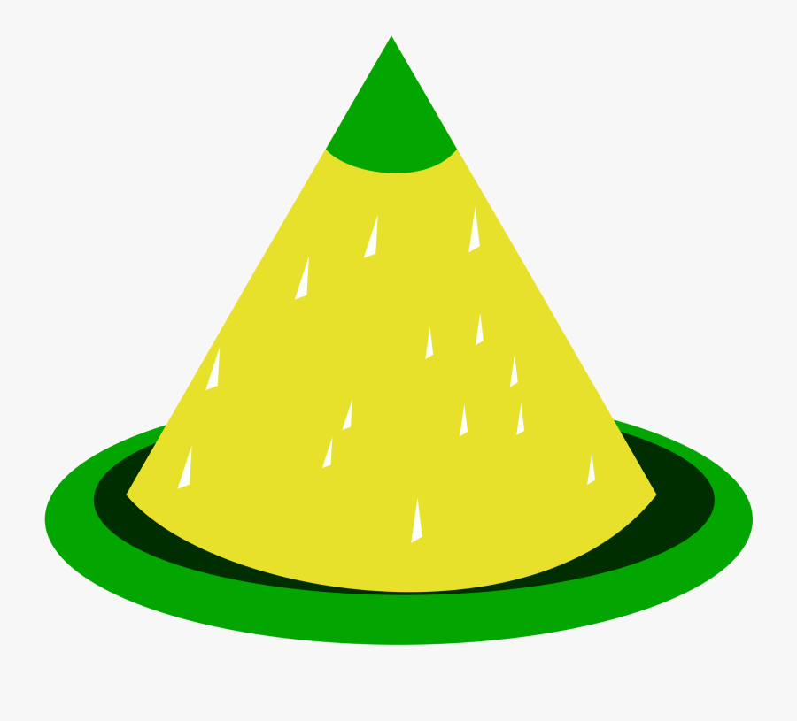 Shaped Yellow Rice Dish, Transparent Clipart