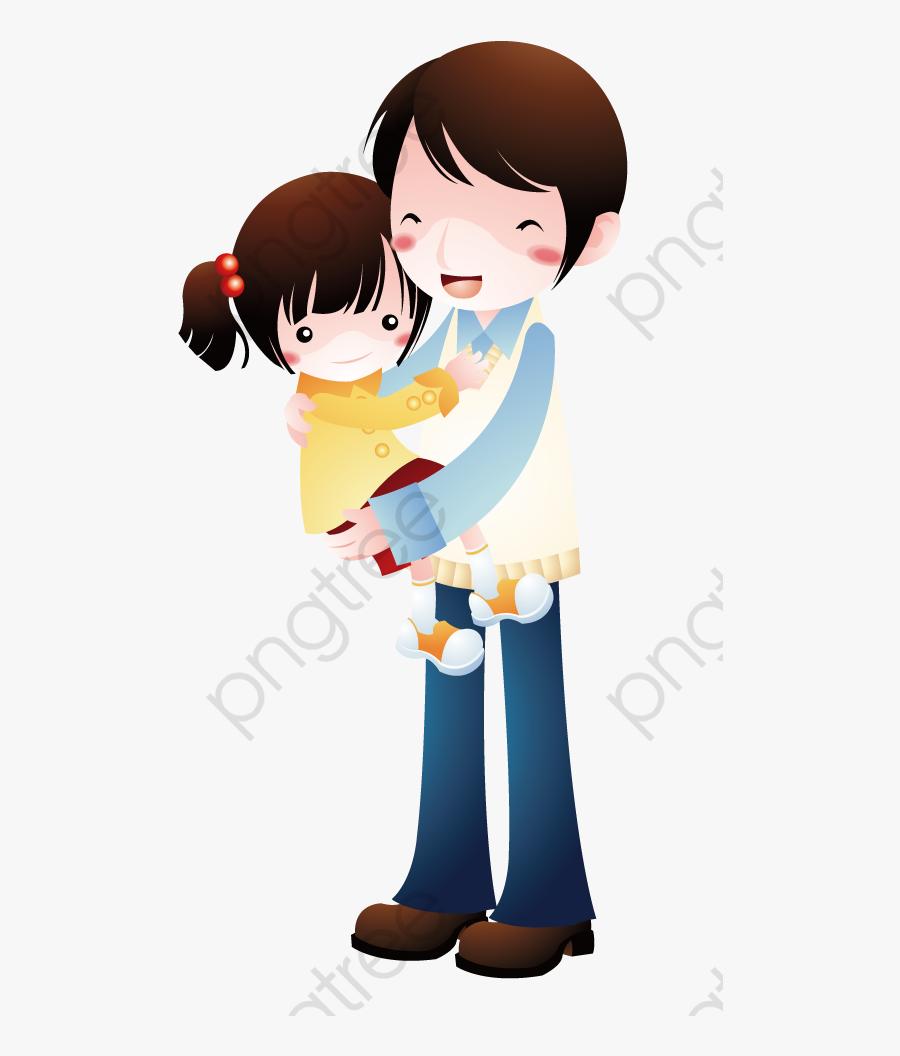 Brother Hugging Sister, Transparent Clipart