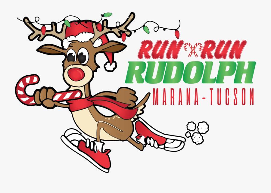 Phoenix Run Run Rudolph Half Marathon / Quarter Marathon, Transparent Clipart
