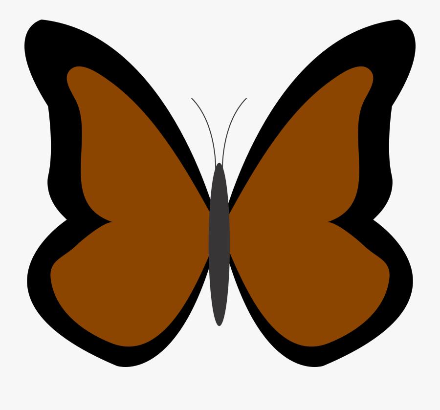 Brown Butterfly Clipart - Blue Butterfly Clip Art, Transparent Clipart