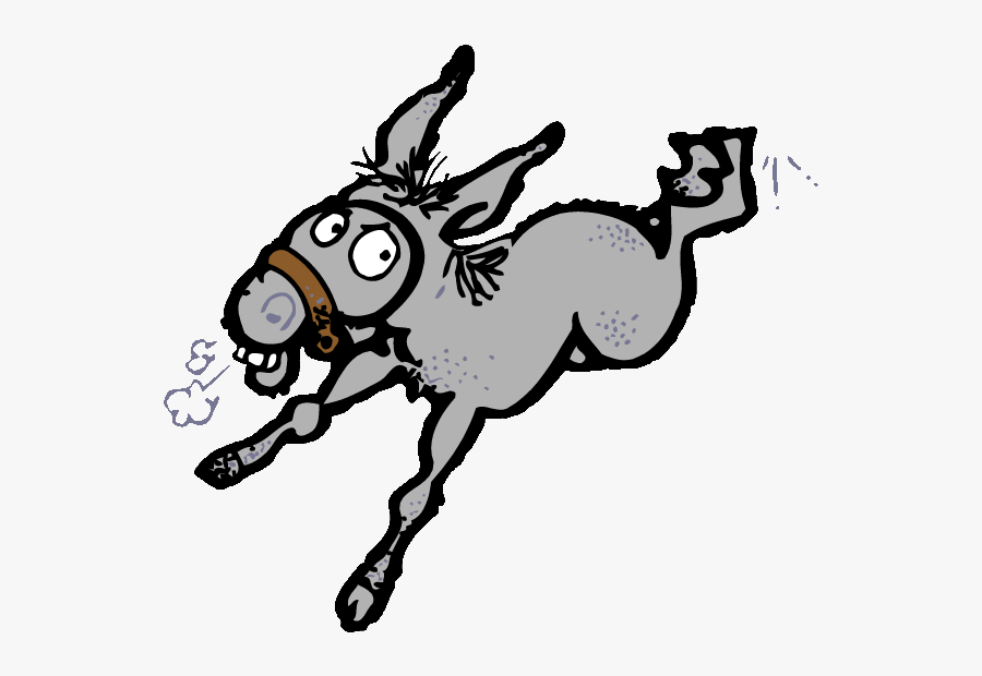 Mule Clipart Donkey Kick - Free Clip Art Donkey, Transparent Clipart