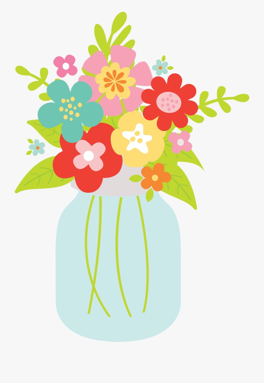 Mason Jar Vase Svg Cut File Free Transparent Clipart Clipartkey