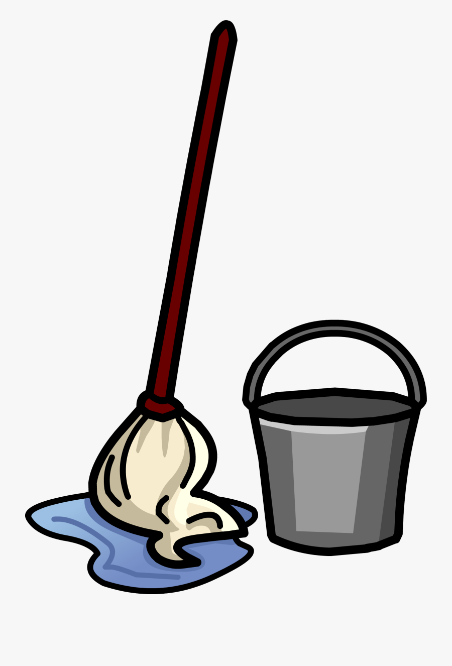 Thumb Image - Mop And Bucket Clipart, Transparent Clipart