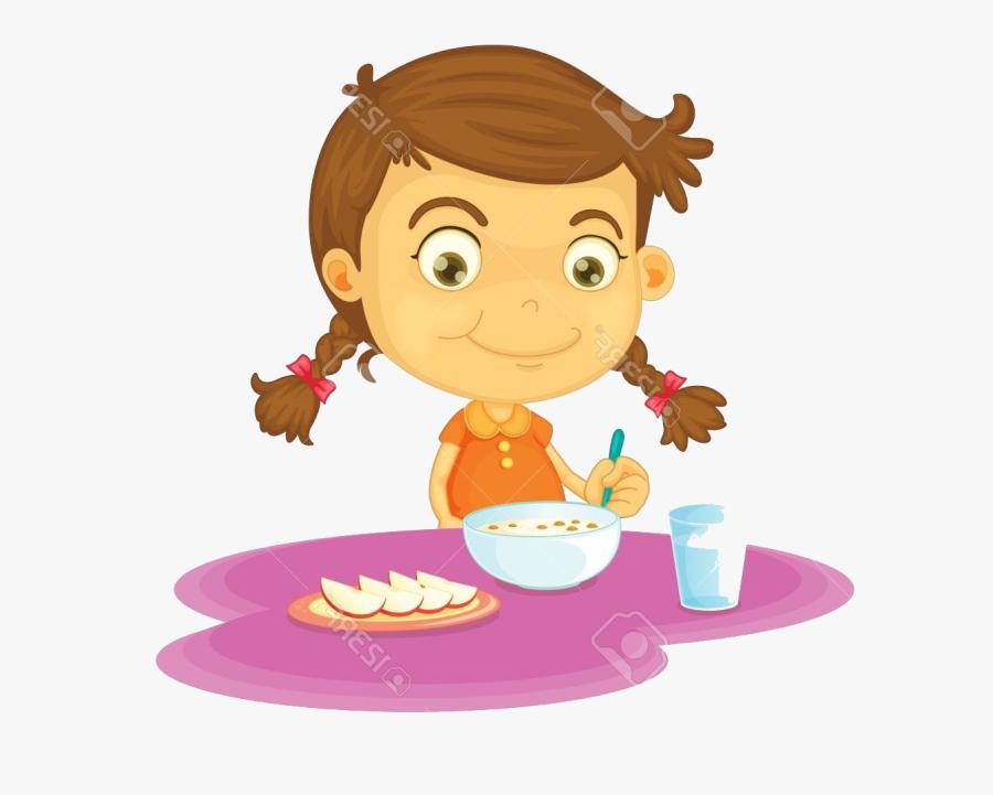 Eating Have Breakfast Clipart Child Food Children ... (900 x 721 Pixel)
