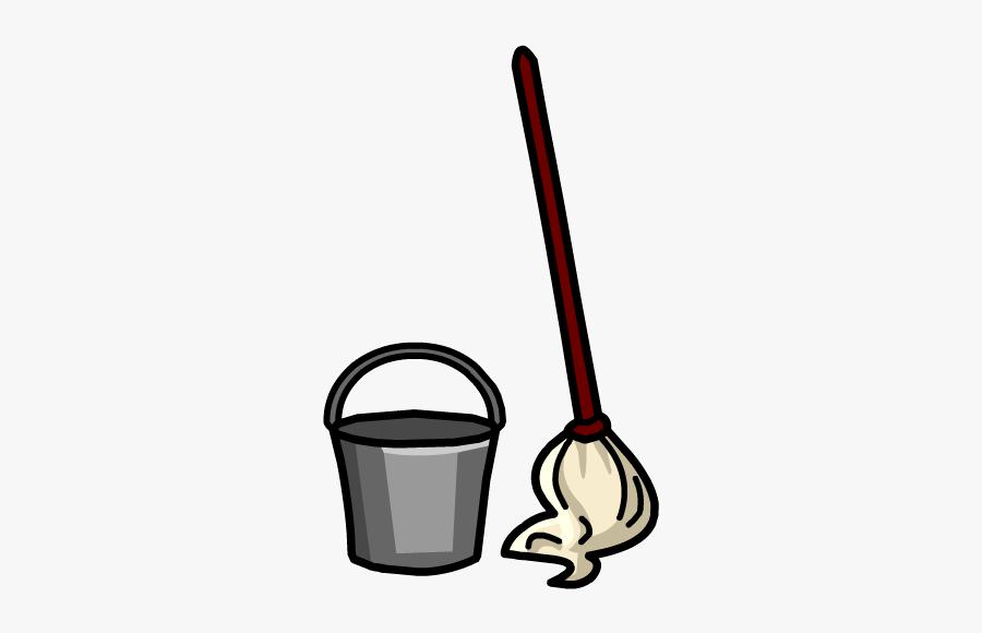 Free Clip Art Bucket - Mop Bucket Clip Art, Transparent Clipart