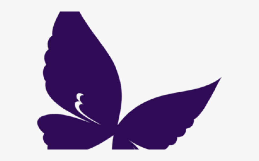 Purple Butterfly Cliparts - Purple Clipart Butterfly, Transparent Clipart