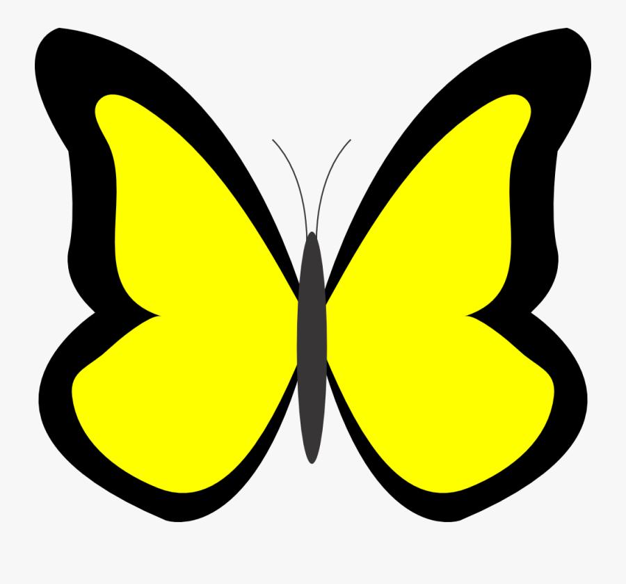Yellow Butterfly Clipart - Yellow Butterfly Clip Art, Transparent Clipart