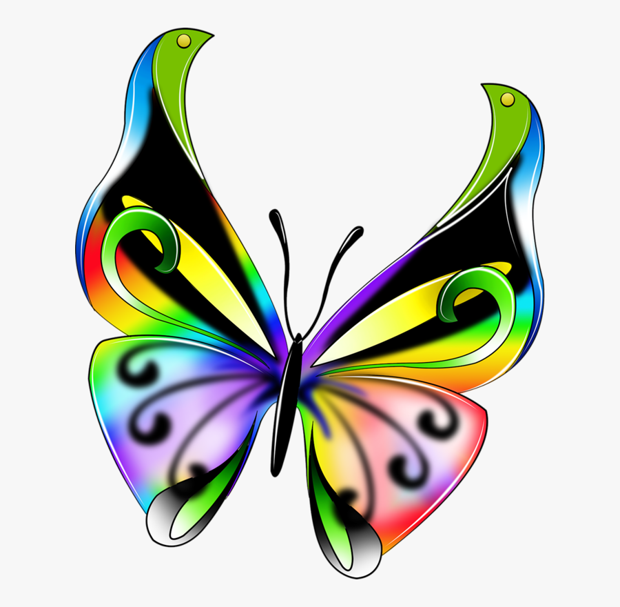 0 7ae50 3222a08c Xxxl Butterfly, Clip Art And Dragonflies - Colorful Butterfly, Transparent Clipart