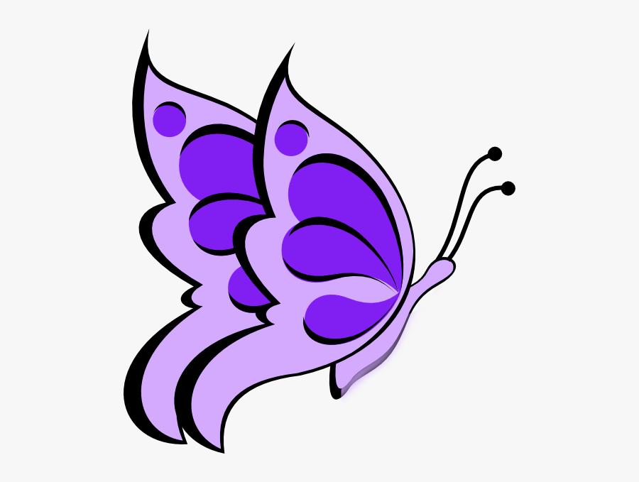 Transparent Purple Butterflies Clipart, Transparent Clipart