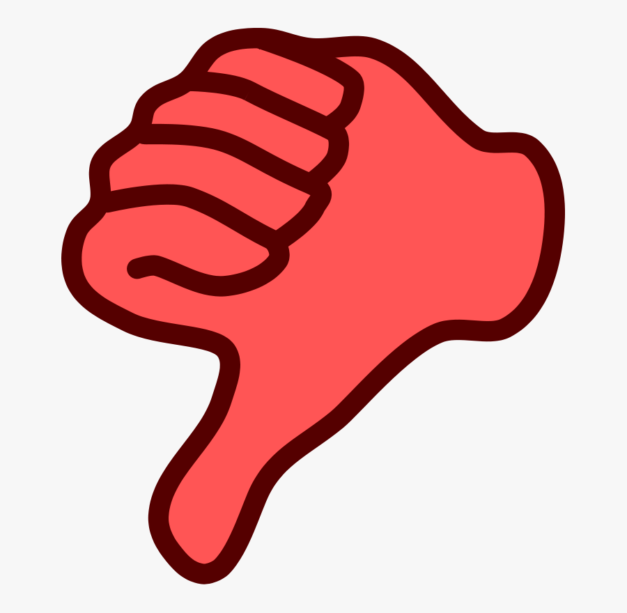 Thumbs Up Thumbs Down Clipart - Red Thumbs Down Clipart, Transparent Clipart