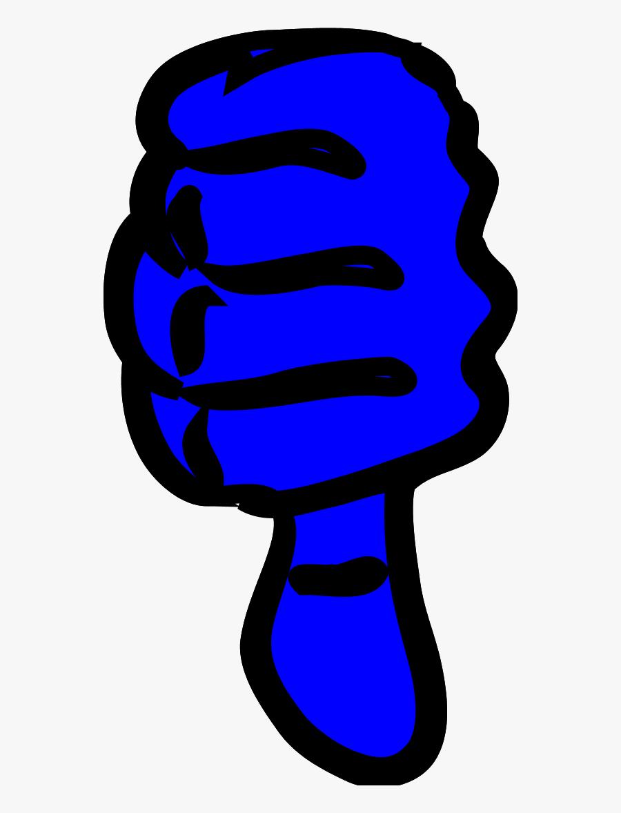 Vector Clip Art - Thumbs Down Clipart Blue, Transparent Clipart