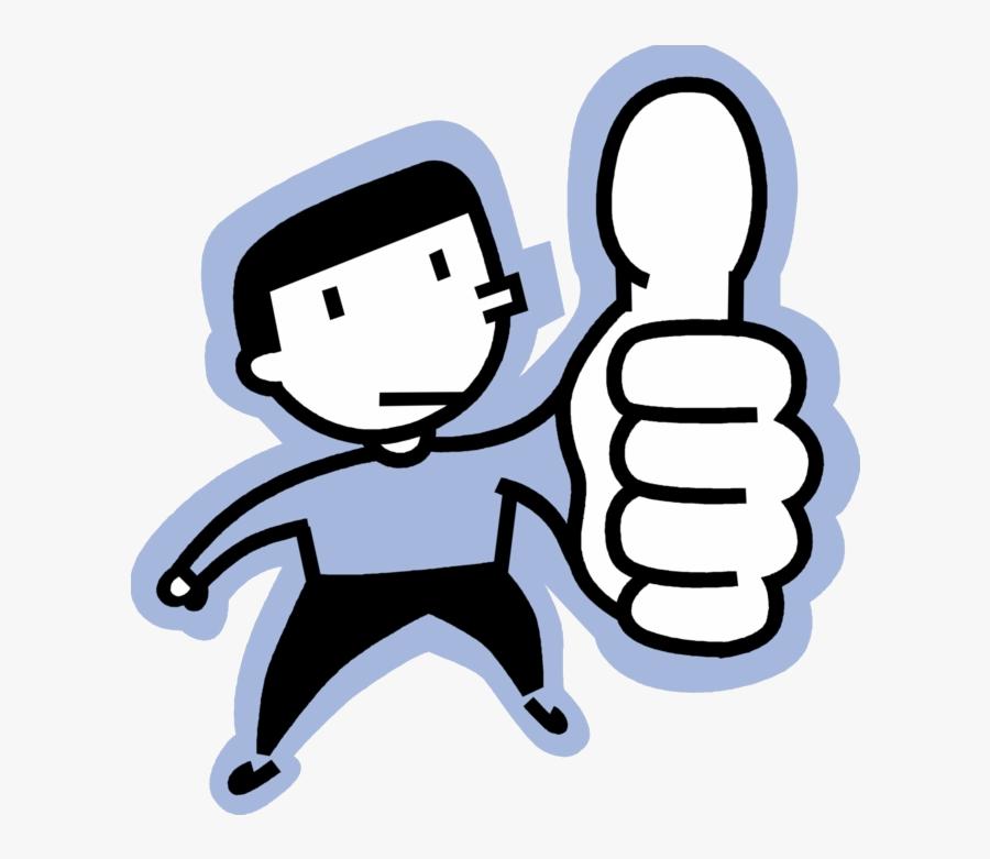 Thumb Vector Illustration - Thumbs Up Clipart, Transparent Clipart
