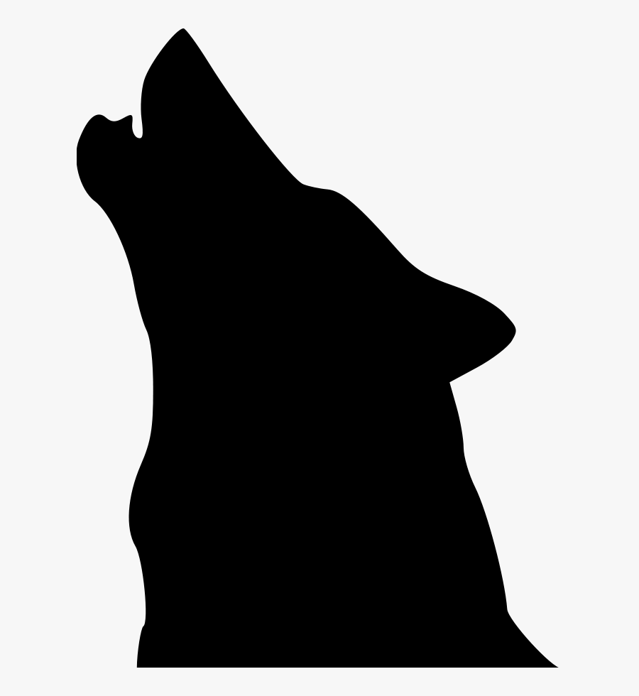 Wolf Clip Art - Silhouette Of Wolf Head, Transparent Clipart