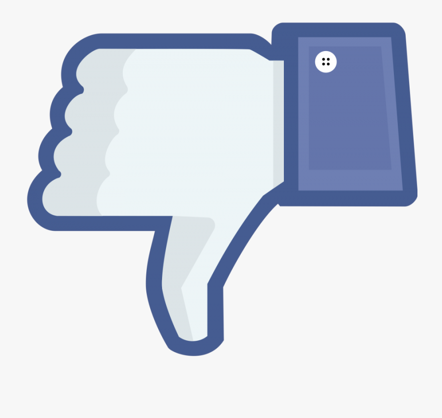 Thumbs Up For Thumbs Down - Bad Facebook, Transparent Clipart
