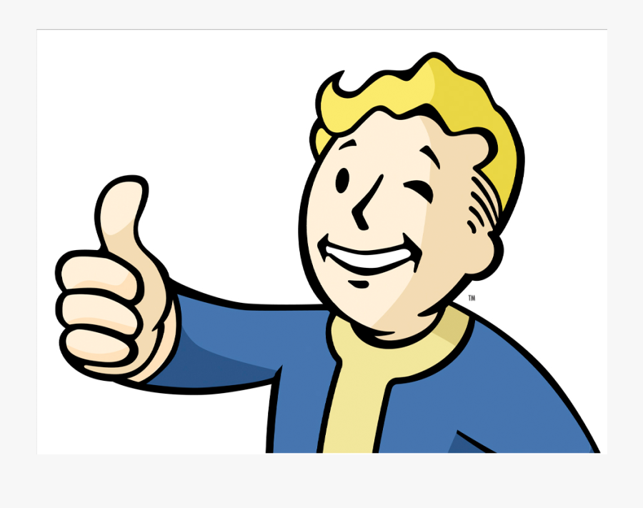 Finger,cartoon,facial Signal,art,line Art,graphics - Fallout Boy Thumbs Up, Transparent Clipart