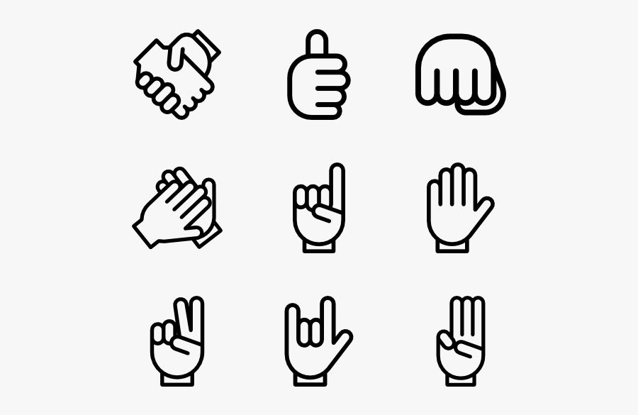 Gesture Hands Lineal - Hand Thumbs Up Icon, Transparent Clipart