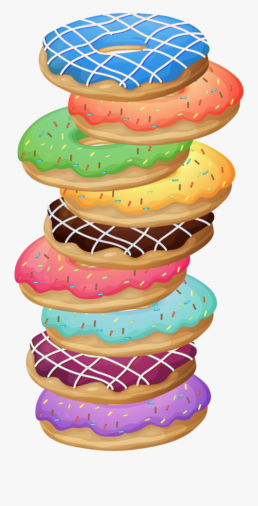 Transparent Donut Clipart Png - Stack Of Cookies Clip Art, Transparent Clipart
