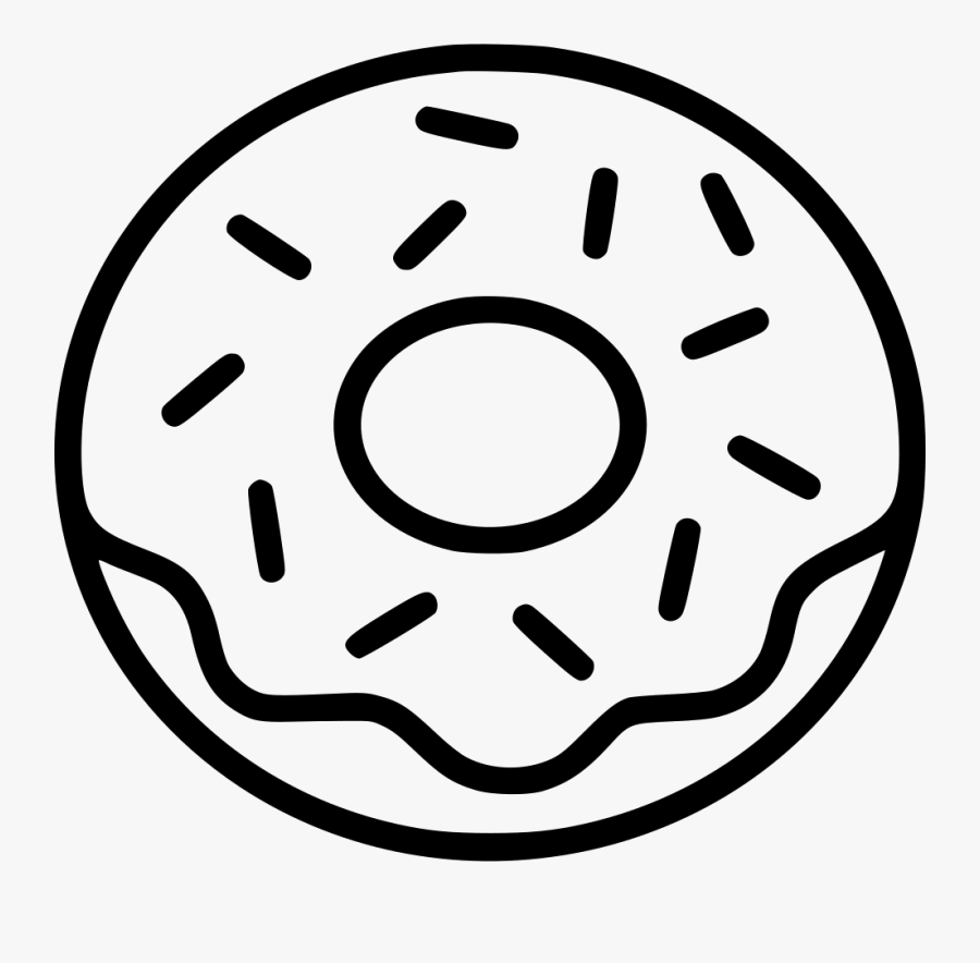 Png File Svg Png File Svg Donut Black And White Clipart Free