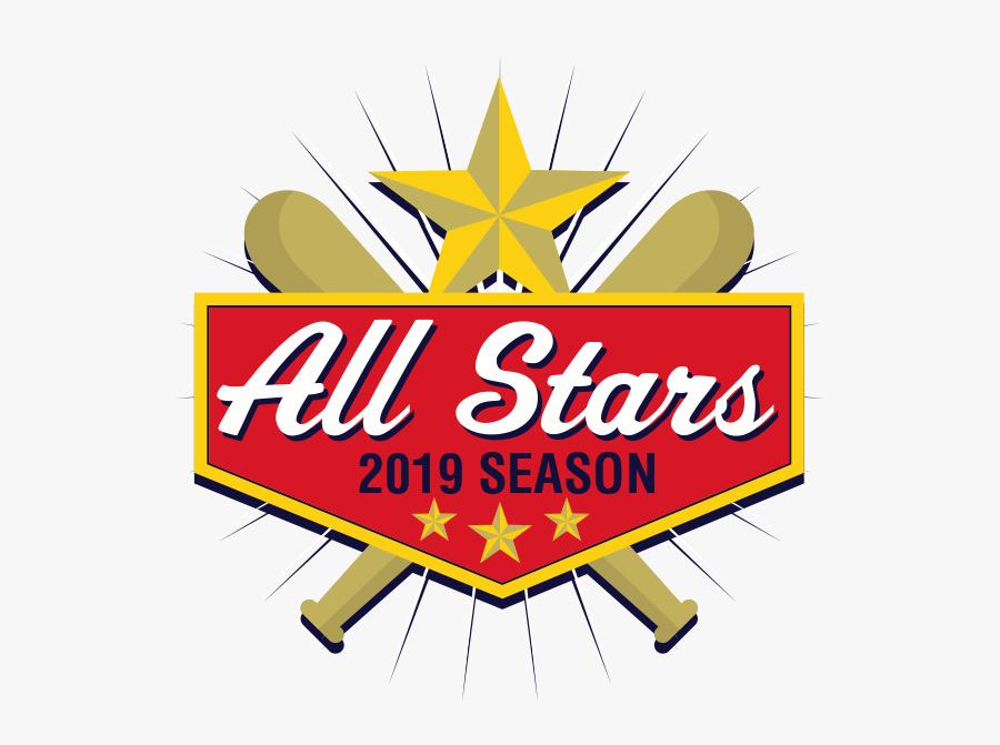 2019 All Stars Baseball, Transparent Clipart