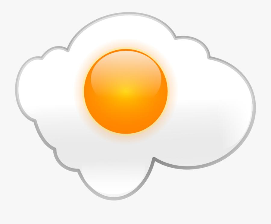 Transparent Eggs Clipart - Fried Egg Clip Art, Transparent Clipart