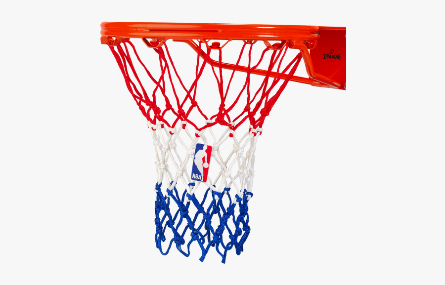 Basketball Net - Spalding Red White And Blue Basketball Net, Transparent Clipart
