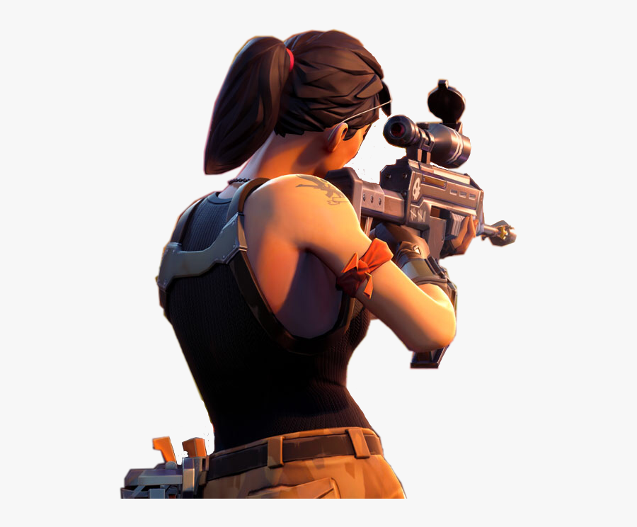 Pubg Videogame Game Gaming - Fortnite Character With Gun Transparent, Transparent Clipart